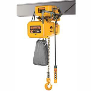 1/4 Ton, 3 Phase Electric Chain Hoist, 53 FPM Lift Speed w/Motor Driven Trolley
