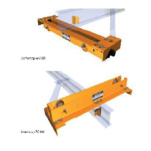 Push End Trucks, top or under running, up to 24' span.