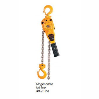 Harrington LB Lever Hoist - 1 Ton - 5'