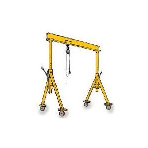 1 Ton, 8' Span, 9'-8 in. / 12'-8 in. Min/Max Adjustable Height
