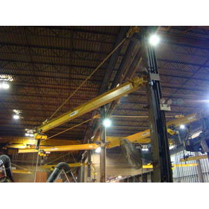 5 Ton, Wall Bracket Jib Crane, 28'-0 in. Span.